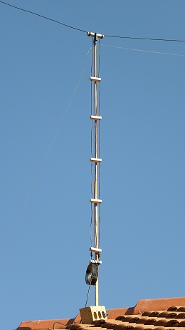 11 m Band Extended Double Zeppelin 'Zepp' (EDZ) antenna centred at 27.500 MHz: 450 ohm Ladder Line