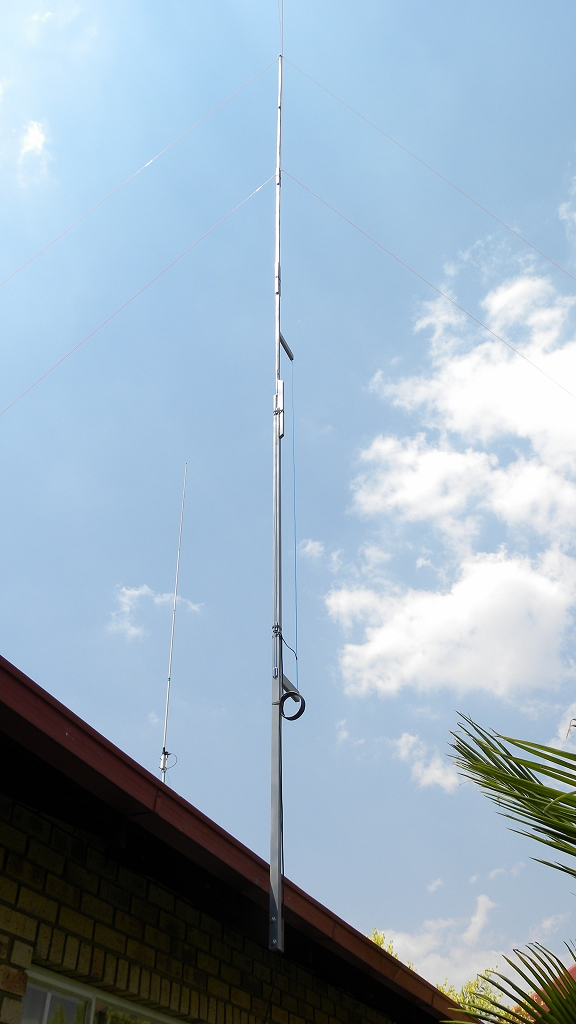 11 m Band J-Pole antenna centred at 27.500 MHz